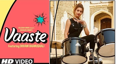 Vaaste Song Whatsapp Status Video Download – Dhvani Bhanushali