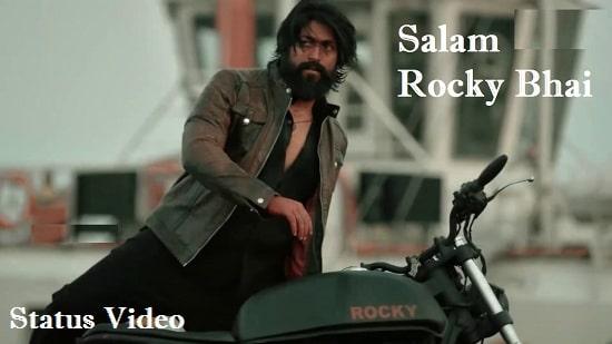 Salam Rocky Bhai Song Whatsapp Status Video Download – KGF Status