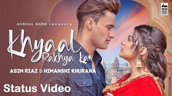 Khyaal Rakhya Kar Song Whatsapp Status Video Download Free Mp4