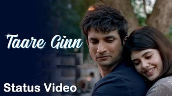 Taare Gin Song Whatsapp Status Video Download – Dil Bechara
