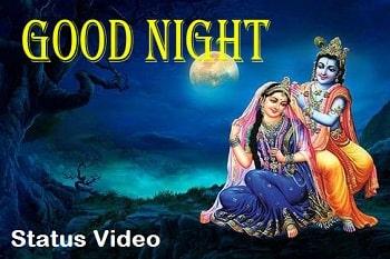 Shree Krishna Good Night Whatsapp Status Video Download